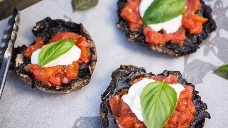 Grilled Portobello Pizzas