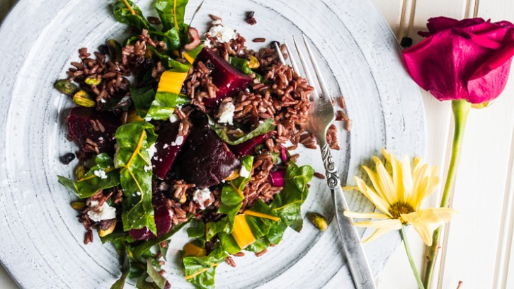 Red Rice and Rainbow Chard Salad + My New Jersey Series