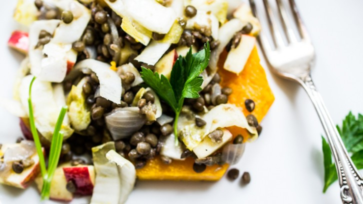 My New Jersey + An Elegant but Simple Butternut Squash & Spiced Lentil Salad