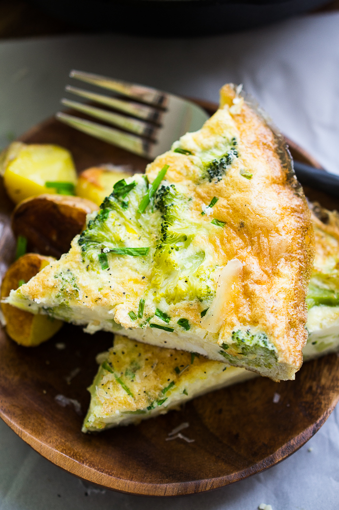 Fontina and Broccoli Frittata