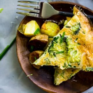 Fontina and Broccoli Frittata
