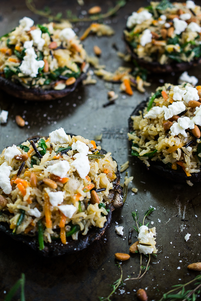 Stuffed Portobello Mushroom with Wild Rice