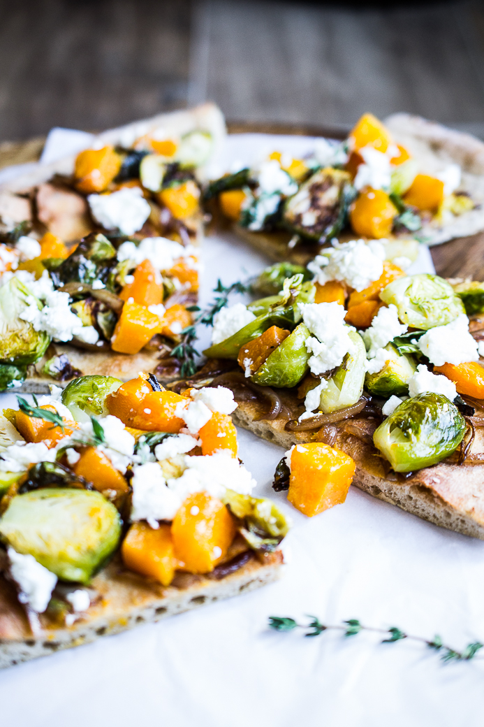 Brussel Sprouts and Butternut Squash Pizza