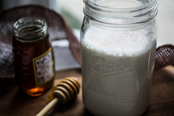 Homemade Honey Sweetened Spiced Almond Milk