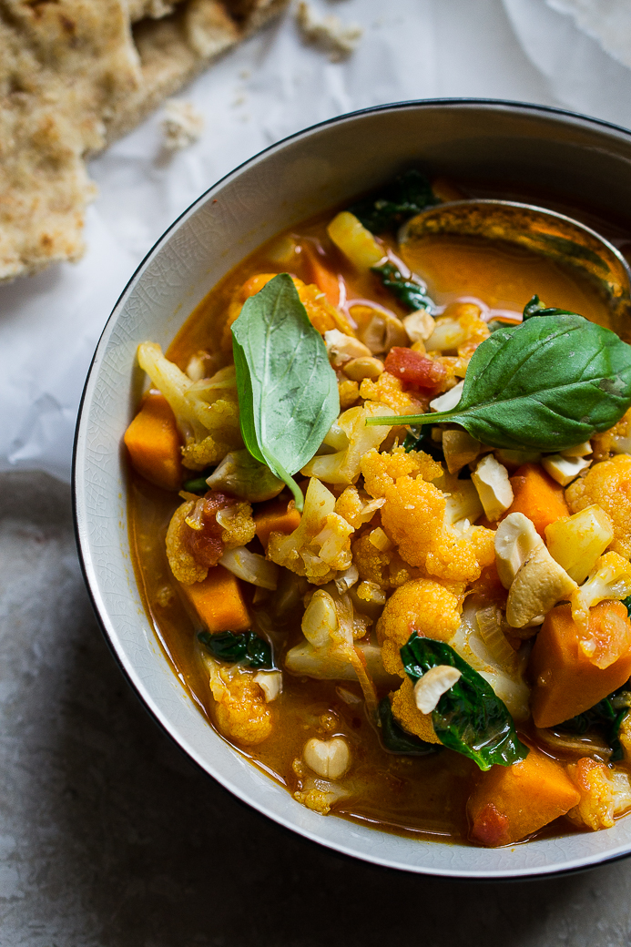 Vegan Cauliflower and Sweet Potato Curry