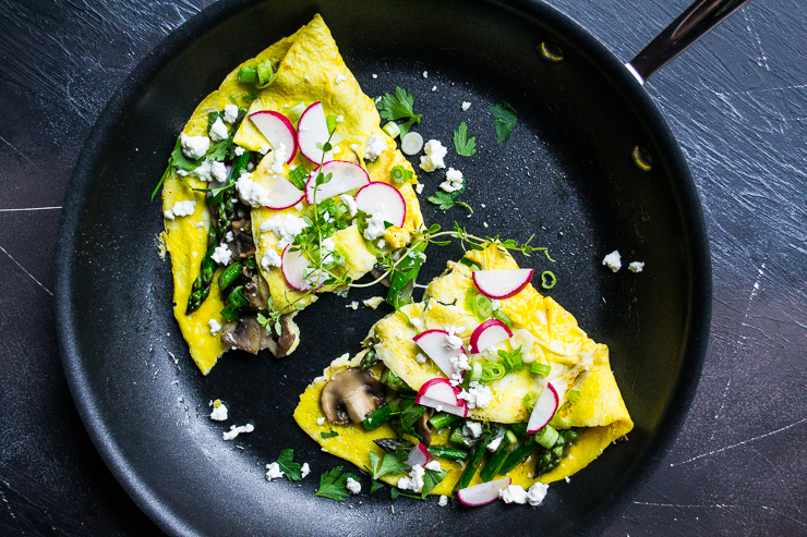 Simple Spring Veggie Omelet