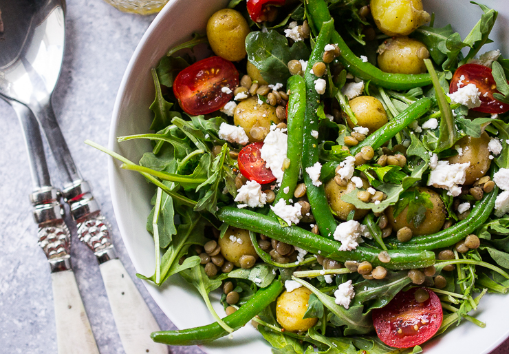 Farmers Market Potato and Lentil Salad