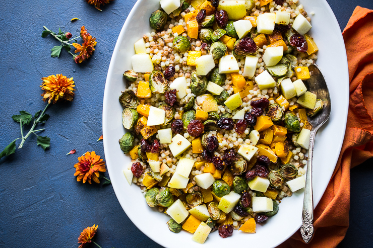 Autumn Fregola Salad + Let's Get Real About Breast Cancer Prevention
