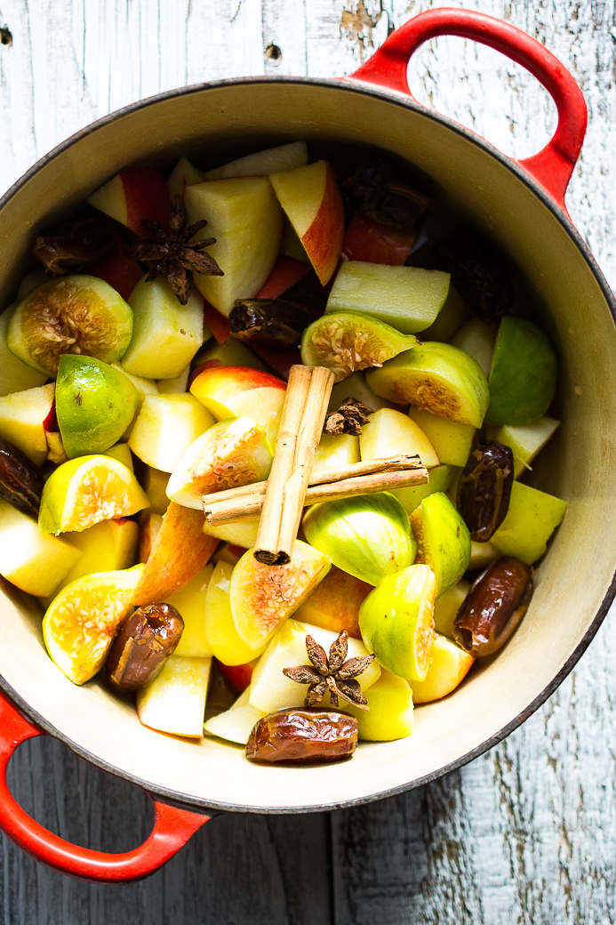 Apple, Fig and Date Compote