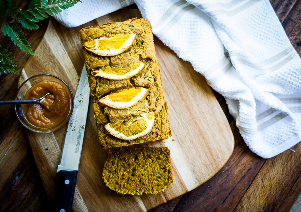 Orange Scented Pumpkin Zucchini Bread