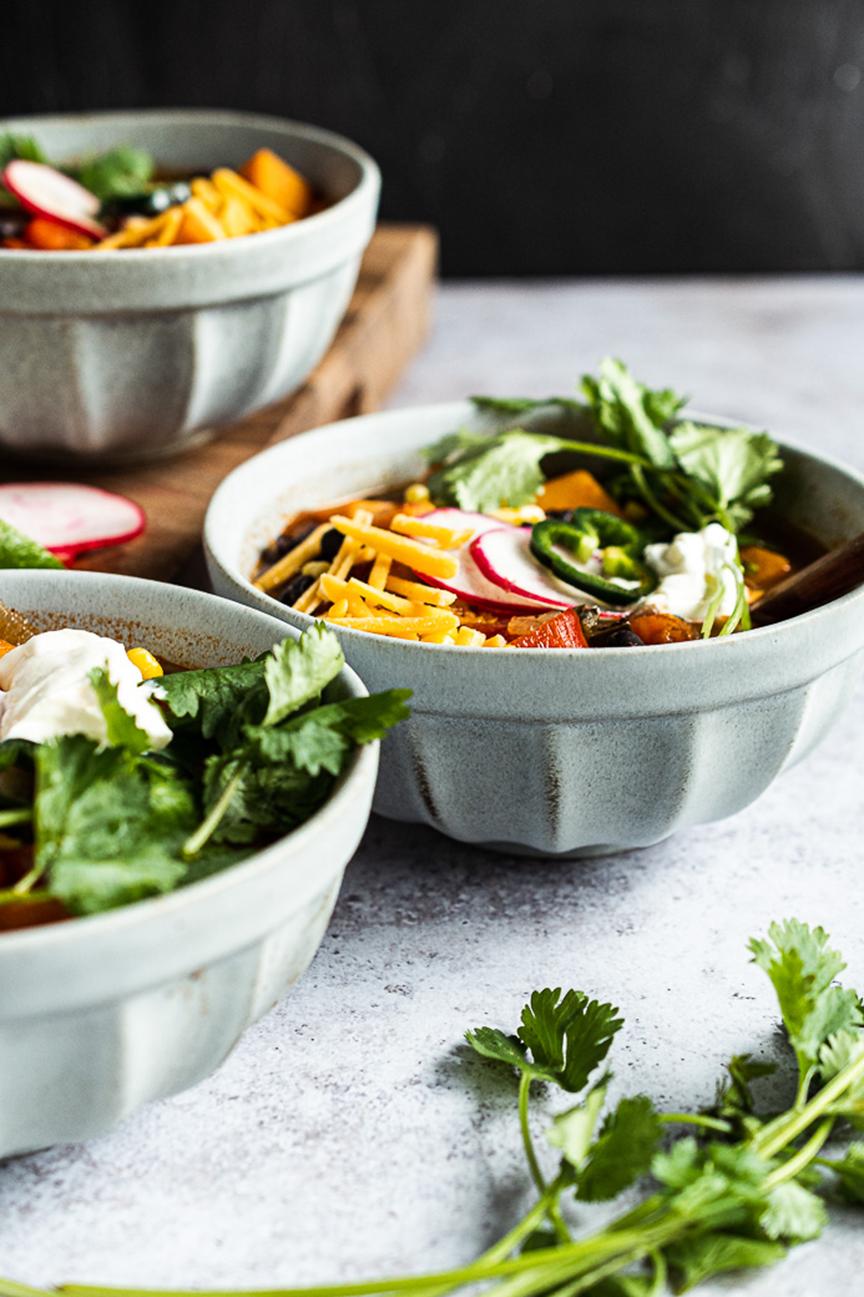 Vegetarian Butternut Squash and Black Bean Chili