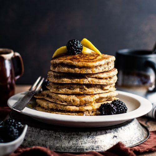 Fluffy Lemon Poppy Pancakes