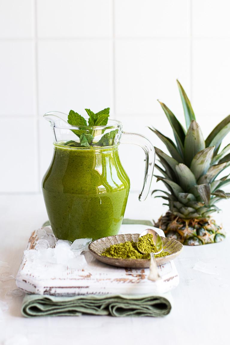 Pineapple Matcha Green Smoothie