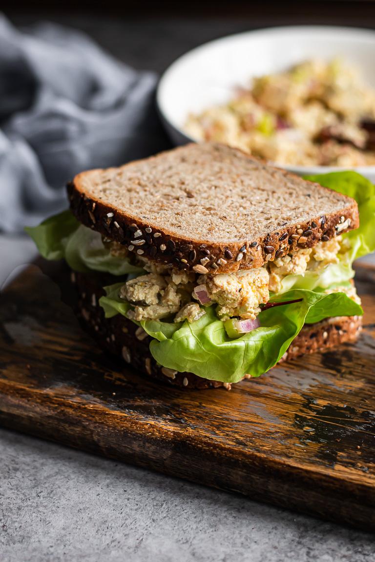 Vegan Egg Salad with Pickled Relish