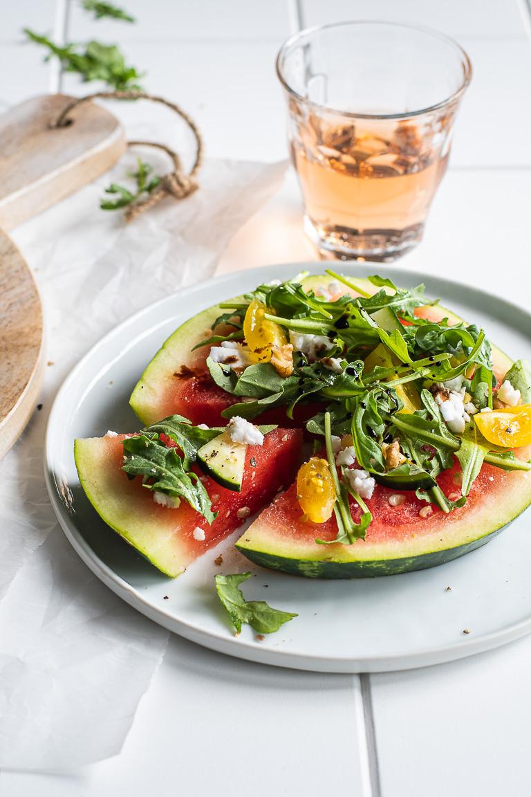 Watermelon & Arugula Pizza