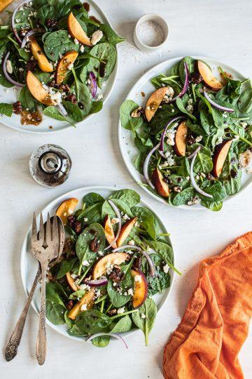 Spinach & Peach Salad